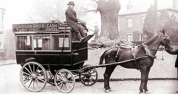 burton on trent local history archive horse drawn